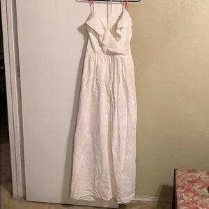 Betsy Johnson white halter maxi dress